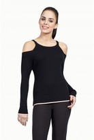 Select Fashion Fashion Womens Black Tipped Cut Out Jumper - size 6