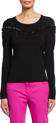 Escada Sweetheart-Embellished Sweater