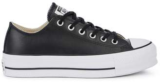 Converse Lift Black Leather Sneakers