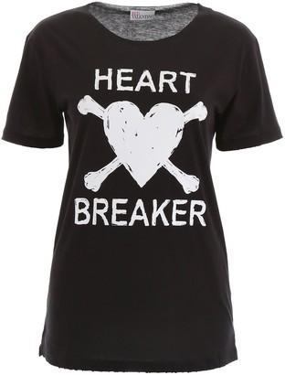 RED Valentino Heart Motif Print Oversize T-Shirt