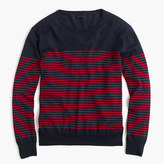 J.Crew Lightweight cotton crewneck sweater in nautical stripe