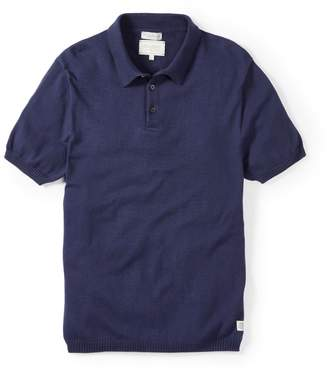 Peregrine Cruise Knitted Polo Shirt Navy