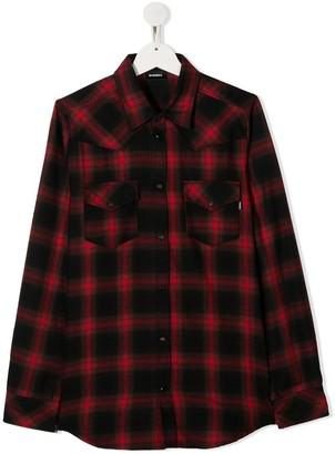 Diesel TEEN plaid buttoned shirt