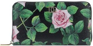 Dolce & Gabbana Rose Print Wallet
