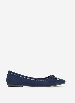 Dorothy Perkins Womens Navy Blue 'Pippa' Ballet Pumps, Blue