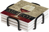 Thirstystone Merlot Coasters Gift Set
