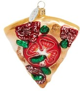 Nordstrom Pizza Glass Ornament