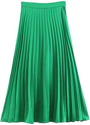 Goodnight Macaroon 'Caillat' Pleated Midi Skirt