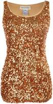 Anna-Kaci Sparkle & Shine Glitter Sequin Embellished Sleeveless Tank Top