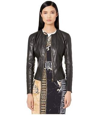 Versace Paneled Leather Jacket