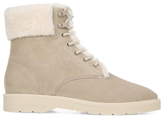 Vince Hayes 2 Shearling-Lined Suede Hiking Boots