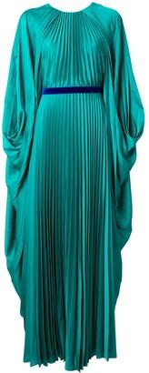 Roksanda Belted Draped Sleeve Gown