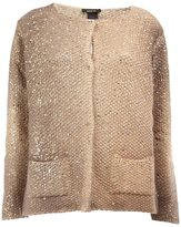Avant Toi metallic effect cardigan - women - Aluminium/Virgin Wool/Polyimide - XS