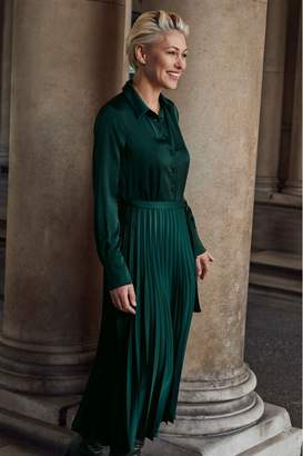 Next Womens Forest Green Emma Willis Shirt Dress - Green