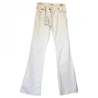Miu Miu White Cotton Jeans for Women Vintage