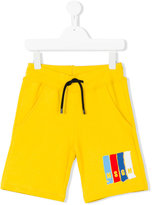 MSGM logo print track shorts - kids - Cotton - 4 yrs
