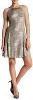 Julia Jordan Long Sleeve Shimmer Fit & Flare Dress