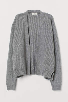 H&M Rib-knit Cardigan - Gray