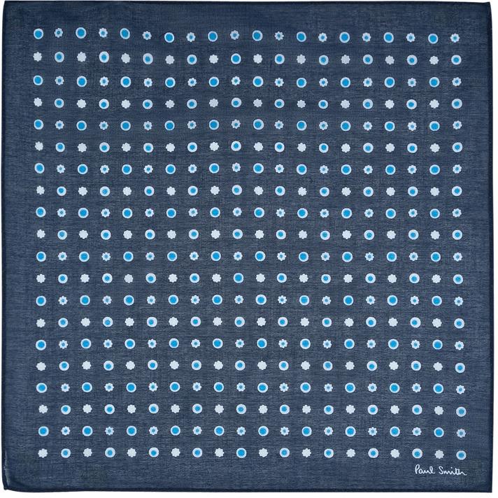 Paul Smith Blue Spot Cotton Hankie