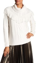 Joie Viviam Fringe Turtleneck Sweater