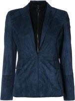 Akris Punto flap pockets blazer - women - Suede/Wool - 4