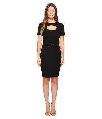 Versace Short Sleeve Dress w/ Cut Out