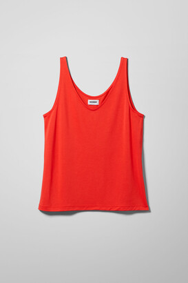 Weekday Abby Tank Top - White