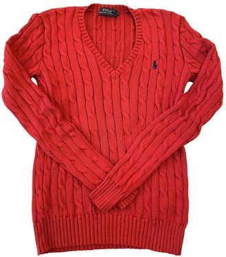 Polo Ralph Lauren Red Cotton Knitwear for Women
