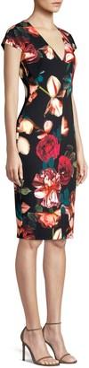 Black Halo Greyson Floral Sheath Dress