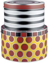 Alessi Circus Set Of 2 Tin Containers With Lids