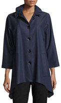 Caroline Rose Essential Denim Shirt, Plus Size