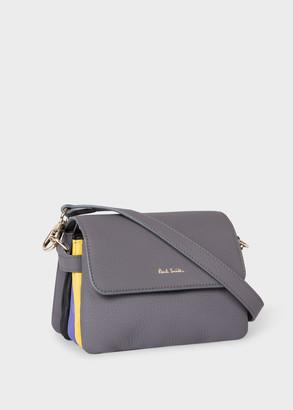 Paul Smith Women's Dusky Grey Leather 'Concertina' Mini Shoulder Belt Bag