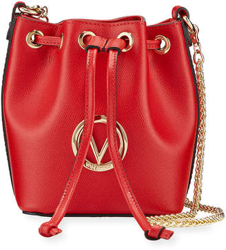 Mario Valentino Valentino By Jules Leather Bucket Bag
