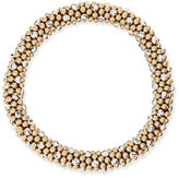 Meredith Frederick Beth 14-Karat Gold and Silver Bead Bracelet