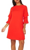 Dorothy Perkins Women's Ruffle Bell Sleeve Shift Dress