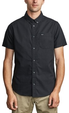 RVCA Men's Slim-Fit That'll Do Stretch Short Sleeve Shirt