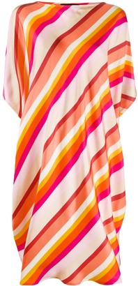 Gianluca Capannolo Stripe-Print Loose-Fit Dress