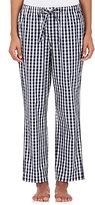 Sleepy Jones Women's Marina Gingham-Print Poplin Pajama Pants-NAVY