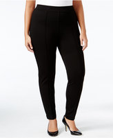 Kasper Plus Size Ponte Compression Pants