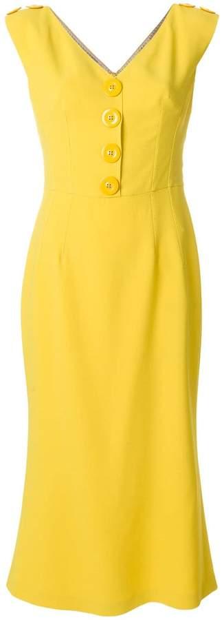 Dolce & Gabbana V-neck buttoned dress