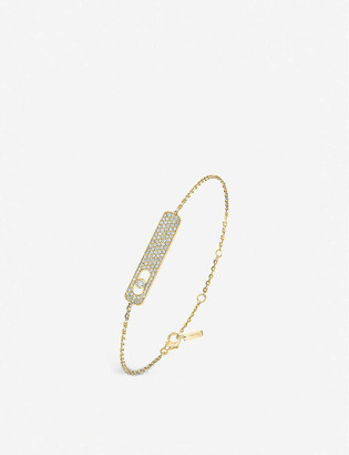 Messika My First 18ct yellow-gold and pave diamond bracelet