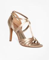 Brooks Brothers Satin High-Heeled Sandals