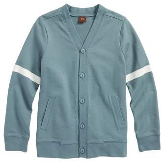 Tea Collection Button Front Varsity Cardigan