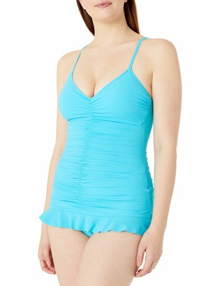 Gottex Women's Swan Lake V Neck Swimdress One Piece Swimsuit