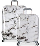 Heys Bianco Stone-Print Hardside Luggage Collection
