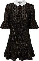 Self-Portrait Sequin Collared Mini Dress