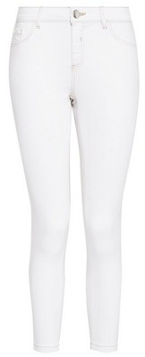 Dorothy Perkins Womens Dp Petite White Contrast 'Darcy' Denim Jeans, White