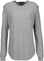 Alexander Wang Mesh-paneled wool and cashmere-blend sweater