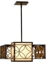 Feiss Remy Collection 2-Light Chandelier in Bronze/Parisienne Gold