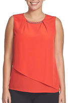 Chaus Solid Sleeveless Top